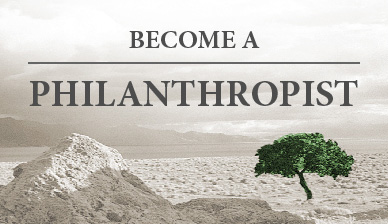 Become a philanthropist